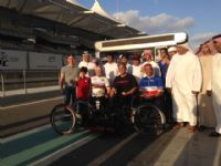 Abu Dhabi race on F1 track